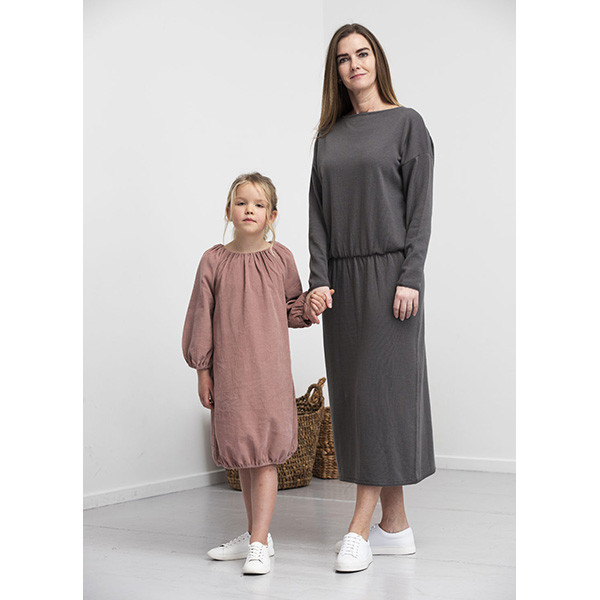 Abigail Dress, Granite, Elodiee Woman