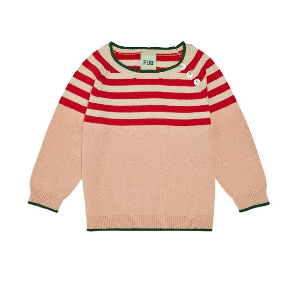 Baby Contrast Bluse, Rose, FUB