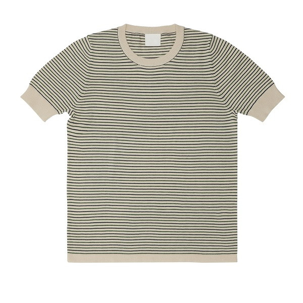 Striped T-Shirt, Ecru Forrest Navy, FUB Woman