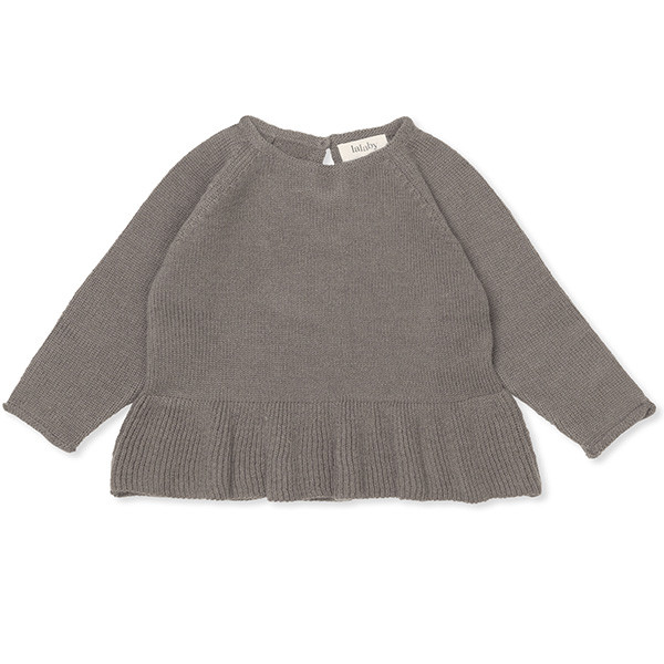 Ava Baby Jumper, Cashmere, Brown, Lalaby