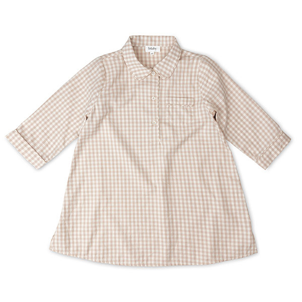 Classic Natkjole, Gingham, Lalaby