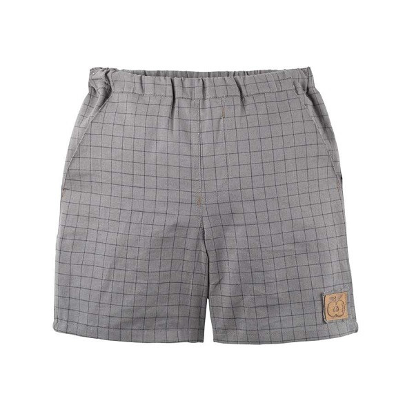 Ternede Shorts, Hør, Grey, Pure Pure