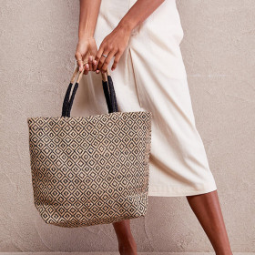 Jute Shopper / Net, Black Diamond, The Dharma Door