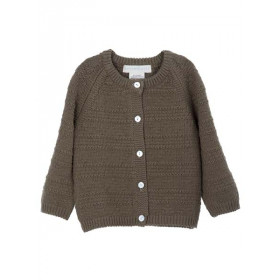 Baby Texture Cardigan, Capers, Serendipity