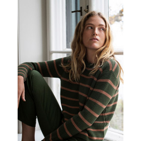 Sweater, Stripe, Serendipity Woman
