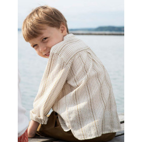 Peasant Shirt, Seagrass Lines, Serendipity