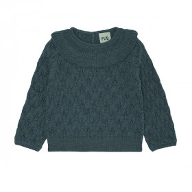 Baby Pointelle Blouse, Uld, Emerald, FUB