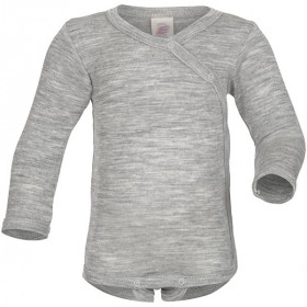 Skråluk Body, Uld/Silke, Grey, Engel