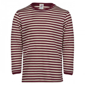 L/Æ T-Shirt, Uld/Silke, Burgundy/Natural, Engel