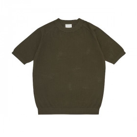 Pointelle T-shirt, Forest, FUB Woman Woman