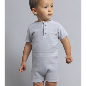 Aidan Romper/Playsuit, Grey, Elodiee