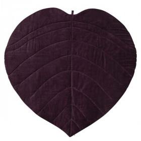 Maxi Leaf Blanket, Dark Berry, Müsli