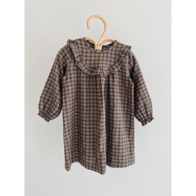 Baby Noey Dress, Grey Check, Lalaby