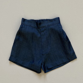 Clara Shorts, Denim Silk, Odieé