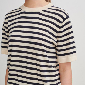 T-shirt, Navy Strib, FUB Woman