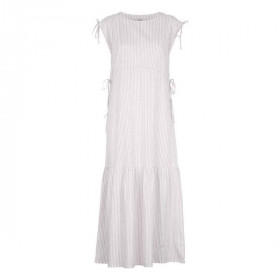 Paula Dress, Warm Sand Stripe, Elodiee Woman