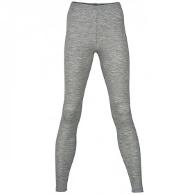 Woman Leggings, Uld/Silke, Grey Melange, Engel