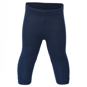 Baby Leggings Uld/Silke, Navy, Engel