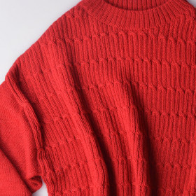 Alpaca Sweater, Harper, Red, Esencia Woman