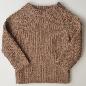 Joe Rib Sweater, Alpaca, Cocoa, Esencia