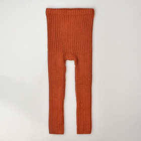 Rib Leggings, Alpaca, Brick, Esencia