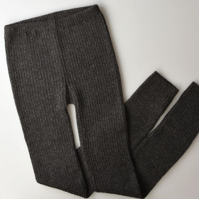 Rib Leggings, Charcoal, Esencia Woman