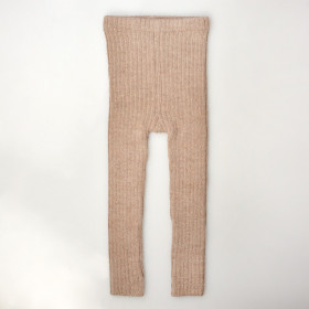 Rib Leggings, Alpaca, Pebble, Esencia