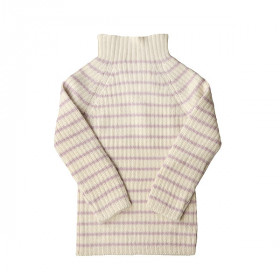 Rib Sweater, Rosa Strib, Esencia