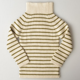 Rib Sweater, Olive Strib, Esencia