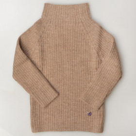 Rib Sweater, Alpaca, Pebble, Esencia