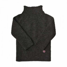 Rib Sweater, Charcoal, Esencia