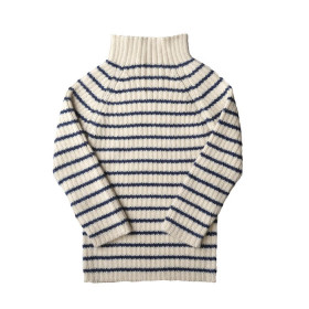 Rib Sweater, Navy Strib, Esencia
