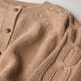Alpaca Cardigan, Terra, Pebble, Esencia Woman