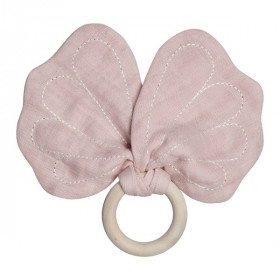 Butterfly Teether, Mauve, Fabelab