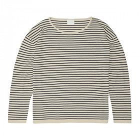 Striped Blouse, Ecru Navy, FUB Woman
