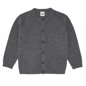 Bubble Cardigan, Uld, Grey, FUB