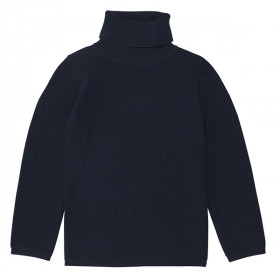 Rollneck Blouse, Uld, Navy, FUB