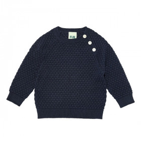 Baby Bubble Blouse, Navy, Fub
