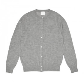 Pointelle Cardigan, Light Grey, FUB Woman