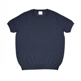 Pointelle T-Shirt, Navy, FUB Woman