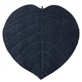 Maxi Leaf Blanket, Midnight, Müsli