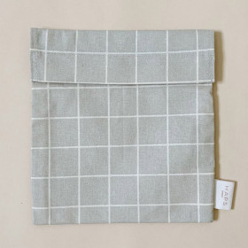 Sandwich Bag, Check Grey, Haps Nordic