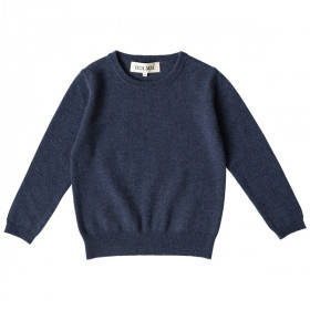 Billy Junior Bluse, Cashmere, Indigo Melange, HOLMM.