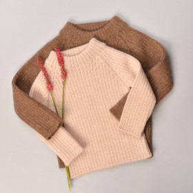 Joe Rib Sweater, Alpaca, Rose, Esencia