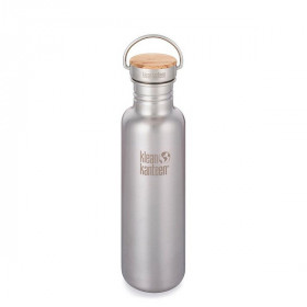 Reflect Drikkedunk Bambus Cap, 800 ml, Brushed Stainless, Klean Kanteen