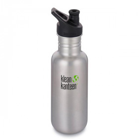 Drikkedunk Sports Cap, 532 ml., Brushed Stainless, Klean Kanteen