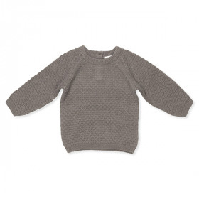 Columbus Baby Sweater, Cashmere, Brown, Lalaby