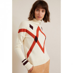 Højhalset Sweater, Off White, Lanius