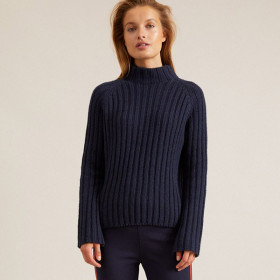 Rib Sweater, Night Blue, Lanius