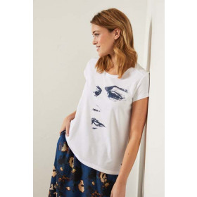 Charity T-Shirt Face, White, Lanius